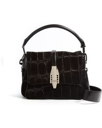 Theyskens' Theory Ofsa Large Stamped Suede Shoulder Bag - Lyst