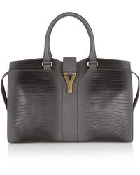 Saint Laurent Cabas Chyc Leather Tote - Lyst