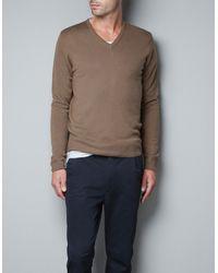 Zara Merino Wool Sweater - Lyst