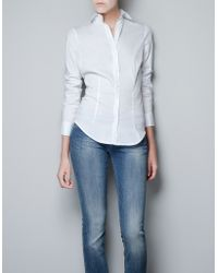 Zara Basic Shirt - Lyst