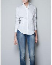 Zara Basic Shirt white - Lyst