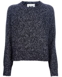 Acne Studios Ruth Twist Sweater black - Lyst