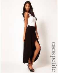 Asos Maxi Wrap Skirt with Dipped Hem - Lyst