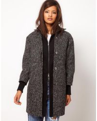 ASOS Collection Asos Double Layer Coat - Lyst
