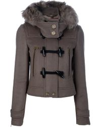 Burberry Brit Cropped Duffle Jacket - Lyst