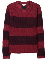 Burberry Brit Striped Knit Pullover - Lyst