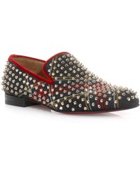 Christian Louboutin Rollerboy Spike Loafers - Lyst