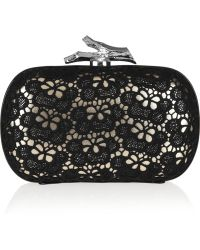 Diane Von Furstenberg Small Lytton Lace Leather Clutch - Lyst