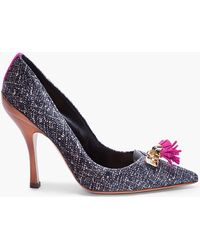 DSquared² Fuchsia Tasseled Velvet Pumps - Lyst