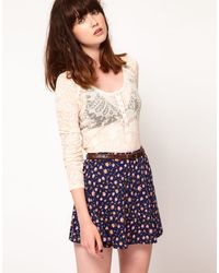 Free People Paisley Burnout Layering Top - Lyst
