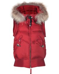 Parajumpers Red Bear Down Vest - Lyst