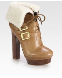 Rachel Zoe Piper Leather and Shearling Laceup Ankle Boots - Lyst
