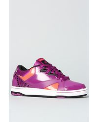 Reebok The Cl Femme Devil Low Sneaker in Aubergine Multi - Lyst