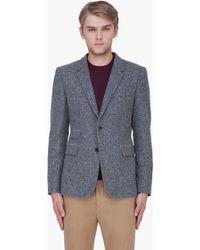 Shipley & Halmos Grey Wool Monarch Blazer - Lyst