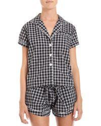 Steven Alan - Plaid Pyjama Top - Lyst