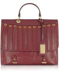 Badgley Mischka - Gloria Smooth Leather Handbag - Lyst