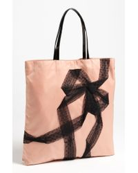 RED Valentino Point Desprit Bow Tote - Lyst
