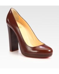 Christian Louboutin Grapi 120m Kid Leather Platform Pumps - Lyst