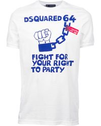 DSquared² Printed T-Shirt - Lyst