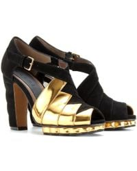 Marni Peeptoes with Scalloped Platform - Lyst