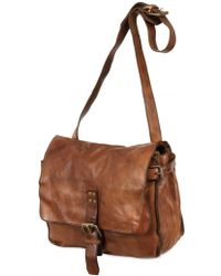 Officine Creative - Vintage Leather Messenger Bag - Lyst