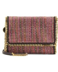 Stella McCartney Falabella Woven Foldover Shoulder Bag - Lyst