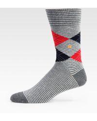 BOSS Orange - Cotton Argyle Socks - Lyst