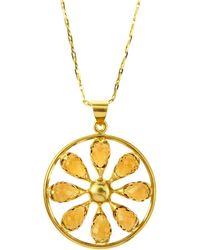Elizabeth Showers - Quartz Pinwheel Necklace - Lyst