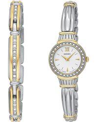Seiko Women'S Two Tone Stainless Steel Bracelet Sujg24 - Lyst