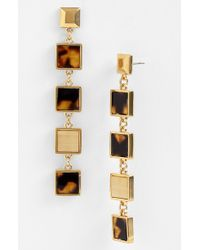 Tory Burch Tomi Square Linear Earrings - Lyst