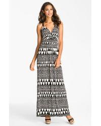 Vince Camuto Geo Stripe Maxi Dress - Lyst