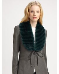 Elizabeth and James - Eva Rabbit Fur Collar - Lyst