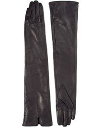 Love - Asos Long Leather Gloves - Lyst