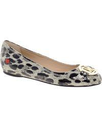 Love Moschino Leopard Ballet Flats - Lyst