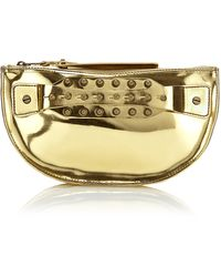 McQ by Alexander McQueen Half Moon Studded Pouch - Lyst