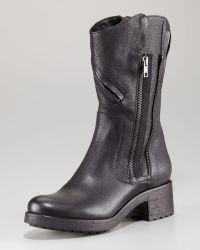 Vera Wang Lavender - Evie Zip Detail Motorcycle Boot - Lyst