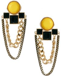 Asos Jewelled Deco Chain Drop Earrings - Lyst