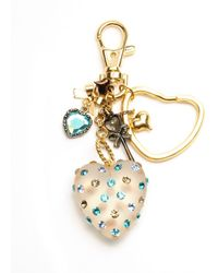 Betsey Johnson Lucite Heart Key Chain - Lyst