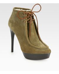 Burberry Prorsum | Ramsdale Suede Laceup Ankle Boots | Lyst
