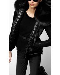 Burberry Sport - Hooded Fur Gilet - Lyst