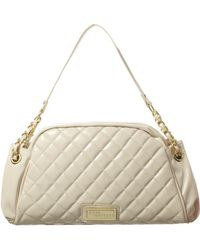 Jane Norman - Cream Quilted Chain Handle Bag - Lyst