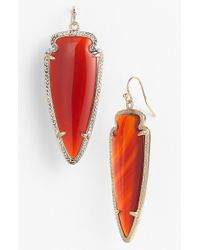 Kendra Scott Skylar Spear Statement Earrings - Lyst