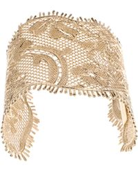 Givenchy Lace Cuff in Golden Brass Metal gold - Lyst