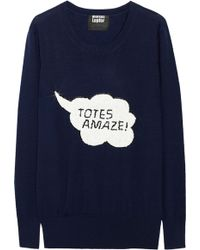 Markus Lupfer Totes Amaze Sequined Wool Sweater - Lyst