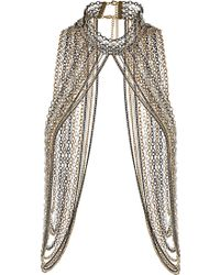 Topshop Maximum High Neck Necklace silver - Lyst