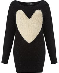 Ax Paris Love Heart Jumper - Lyst