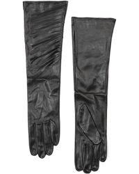 Mango Fringed Leather Gloves - Lyst