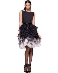 Oscar de la Renta Faille Sleeveless Dress - Lyst
