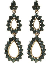 Oscar de la Renta Resin Teardrop Earrings - Lyst