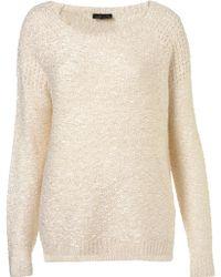 Topshop Knitted Textured Stitch Jumper - Lyst